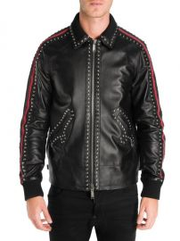 DSQUARED2 - SPORTS LEATHER JACKET at Saks Off 5th