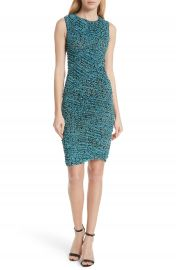 DVF Bias Mesh Overlay Body-Con Dress at Nordstrom