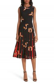 DVF Talita Bird Print Silk Dress at Nordstrom