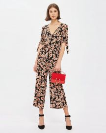 Daisy Print Wrap Jumpsuit at The Iconic