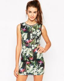 Daisy Street  Daisy Street Bodycon Dress In Leaf Print at Asos