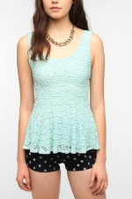 Daisy lace peplum tank by Pins and Needles at Urban Outfitters