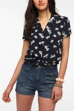 Daisy printed shirt at Urban Outfitters  at Urban Outfitters