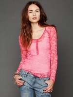 Damask burnout henley by Free People at Free People