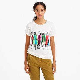 Dancing Ladies Tee by Donald Robertson  at J. Crew
