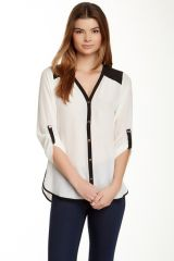 Daniel Rainn silk rolled sleeve blouse at Nordstrom Rack