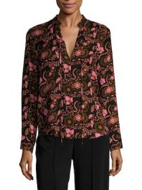 Danielle Silk Printed Blouse by A L C  at Gilt at Gilt