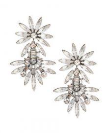 Dannijo Katie Large Crystal Earrings at Neiman Marcus