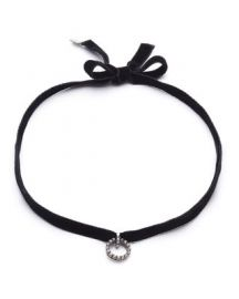 Dannijo Vix Velvet Choker Necklace at Neiman Marcus