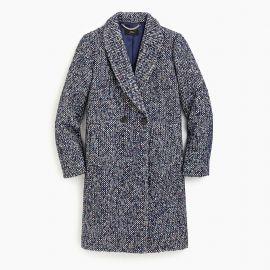 Daphne topcoat in Italian tweed at J. Crew