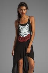 Daria Red Rose Tiger Tank Dress by Lauren Moshi at Revolve