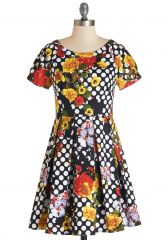 Darling Decoupage Dress at ModCloth