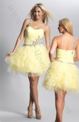 Dave and Johnny Yellow Dress at Magic Moments Prom