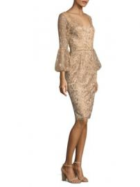 David Meister - Floral Bell Sleeve Sheath Dress at Saks Fifth Avenue