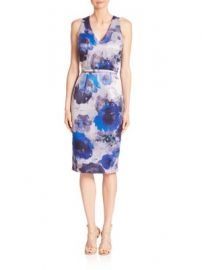 David Meister - Floral Printed Sheath Dress at Saks Fifth Avenue
