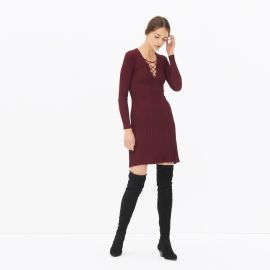 Day Dress in Burgundy at Sandro