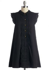Dear Creatures Letter Than Ever Dress in Black at ModCloth