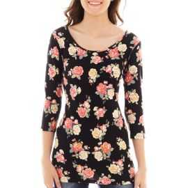 Decree 34 sleeve bodycon tee at JC Penney