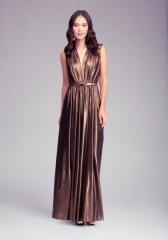 Deep V Neck Maxi Dress at Bebe