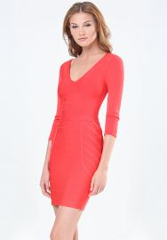 Deep v bandage dress at Bebe