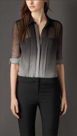 Degrade Silk Shirt at Burberry