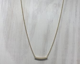 Delicate Gold Tube Layering Necklace at The Sleek Kitty