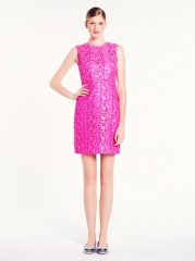 Della Dress in Pink Lace at Kate Spade