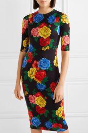 Delora floral-print stretch-jersey midi dress at Net A Porter