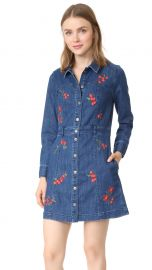 Denim Snap Front Dress madewell at Shopbop