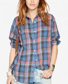 Denim   Supply Ralph Lauren Plaid Long-Sleeve Shirt at Macys