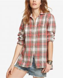 Denim   Supply Ralph Lauren Plaid Utility Shirt in Red Multi at Macys