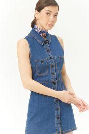 Denim Button Dress at Forever 21