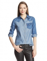 Denim Colorblock Shirt by Levis at Amazon