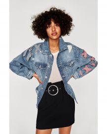 Denim Jacket with Bows by Zara at Zara