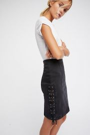 Denim Lace-Up Skirt by Free People at Free People