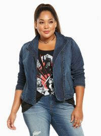 45764a122fe WornOnTV  Loni s denim jacket and sequin skirt on The Real