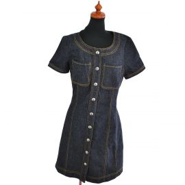 Denim One Piece Dress by Chanel at eBay