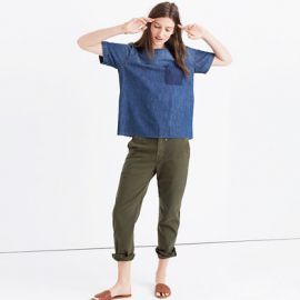 Denim Raw-Edge Tee at Madewell