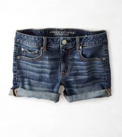 Denim Rolled Shorts at American Eagle