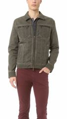 Denim Style Jacket by John Varvatos at East Dane
