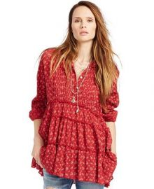 Denim Supply Ralph Lauren Floral Gauze Tiered Tunic at Macys