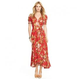 Denim Supply Ralph Lauren Floral-Print Wrap Dress at Macys