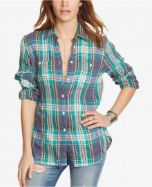 Denim Supply Ralph Lauren Plaid Utility Shirt at Macys