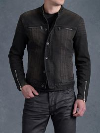 Denim Trapunto Jacket at John Varvatos
