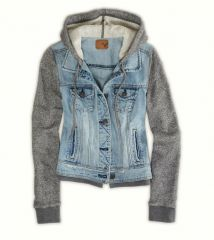 Denim Vested Hoodie at American Eagle