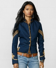 Denim and Supply Ralph Lauren Button-Front Braided Military Jacket - Coats - Women - Macys at Macys