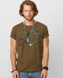 Denim and Supply Ralph Lauren Flag Crewneck Tee - T-Shirts - Men - Macys at Macys