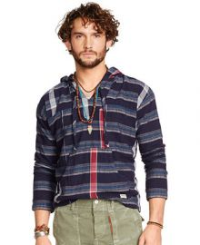 Denim and Supply Ralph Lauren Indigo Kilroy Hooded Popover at Macys
