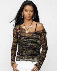 Denim and Supply Ralph Lauren Long-Sleeve Camo-Print Open-Knit Sweater - Sweaters - Women - Macys at Macys