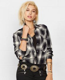 Denim and Supply Ralph Lauren Plaid Western Shirt at Macys